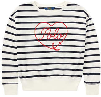 Ralph Lauren Striped Terry Sweatshirt