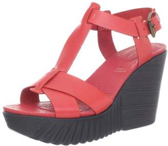 Rockport Women's Kinsley T Strap Wedge Sandal