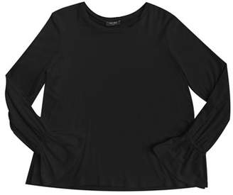 Terez Side Split Fluted-Sleeves Top, Size 7-16