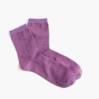 J.Crew Space dye lurex bootie socks