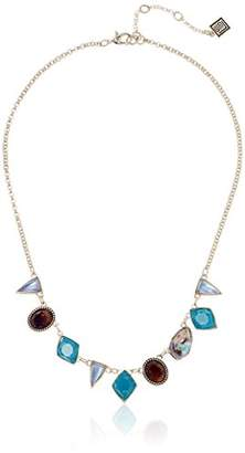 Laundry by Shelli Segal Stone Frontal Teal Pendant Necklace