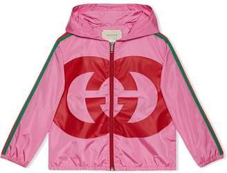 Gucci Kids Children's nylon jacket with Interlocking G