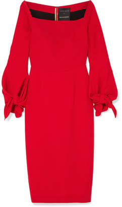 Roland Mouret Mapplewell Bow-detailed Crepe Dress - Red
