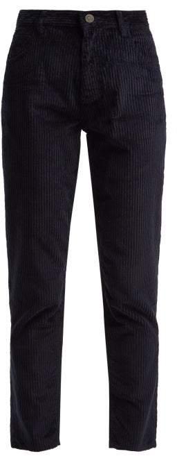 Mimi Cord Cotton Blend Corduroy Jeans - Womens - Navy