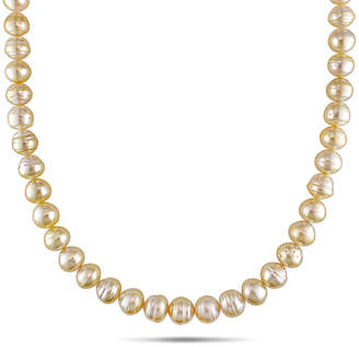 FINE JEWELRY 8-10mm Golden Genuine South Sea Pearl Necklace