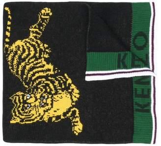 Kenzo front logo tiger scarf