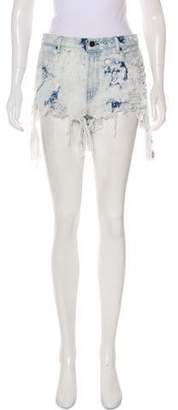 Alexander Wang Denim x Mini Distressed Shorts