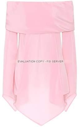 Sies Marjan Briar off-the-shoulder silk blouse