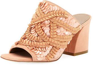 Donald J Pliner Wynne Sequin Ornamented Slide Sandals