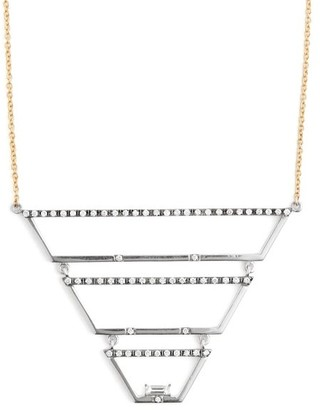 Susan Foster Diamond, White Gold & Yellow Gold Necklace - Womens - Gold