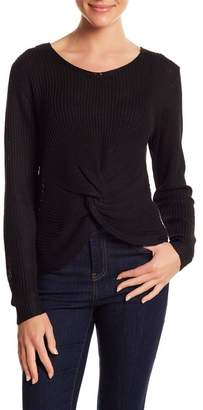 Woven Heart Knot Front Tie Pullover