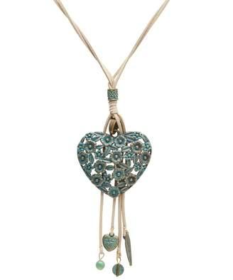 Joe Browns Green Heart Filigree Necklace