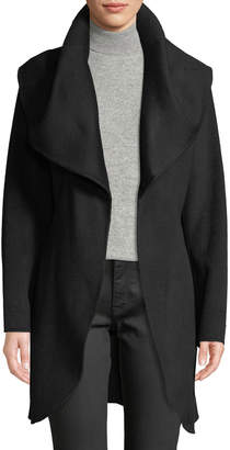 T Tahari Oversized Shawl Collar Wool-Wrap Coat