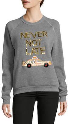 BOW AND DRAPE Never Not Late Boyfriend Sweatshirt
