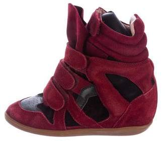 Isabel Marant Suede Beckett Wedge Sneakers