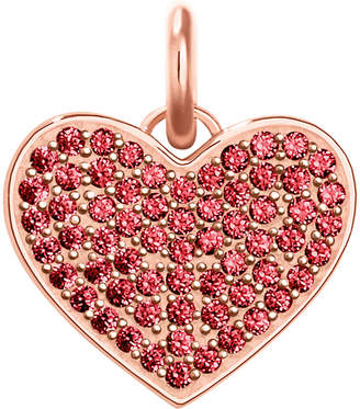 Thomas Sabo Love Coin rose-gold and red zirconia pendant