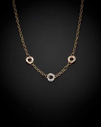 Royal Chain 14K Italian Gold Tri-Tone Necklace