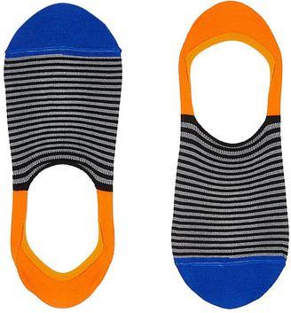 Paul Smith Men's Striped Cotton-Blend No-Show Socks $20 thestylecure.com