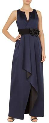 Ted Baker Castale Bow-Detail Faux-Wrap Gown