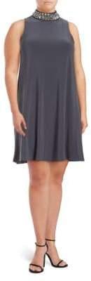 Marina Mockneck Sleeveless Dress
