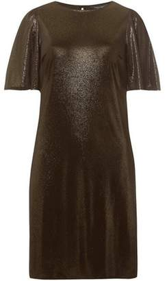 Dorothy Perkins Womens **Tall Gold Glitter Velvet Shift Dress