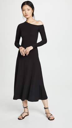 Rosetta Getty One Shoulder Flare Dress