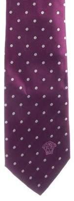 Versace Silk Medusa Embroidered Tie w/ Tags