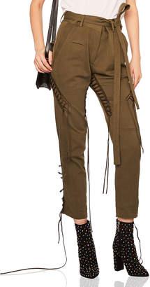 Saint Laurent Lace Up Military Gabardine Pants