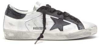 Golden Goose Superstar Leather Trainers - Womens - Black Silver