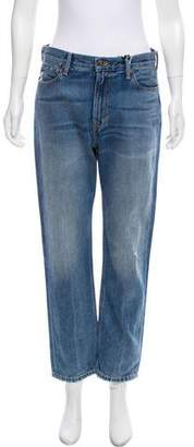 Vince High-Rise Straight-Leg Jeans w/ Tags