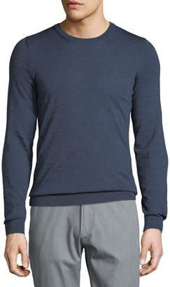BOSS Men's Heathered Wool Crewneck Sweater