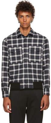 Neil Barrett Grey and Black Tartan Shirt