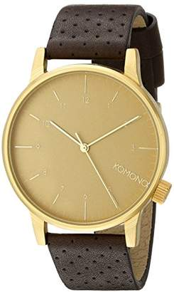 Komono Unisex KOM-W2001 Winston Analog Display Japanese Quartz Brown Watch
