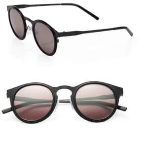 Kyme Miki 46mm Round Mirror Sunglasses