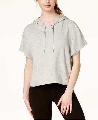 Calvin Klein Relaxed Short-Sleeve Cropped Hoodie