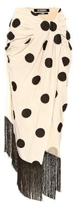 La Jupe Pareo polka-dot wrap skirt