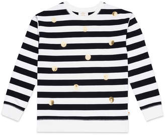 Kate Spade striped sequin dot sweatshirt, size 7-14