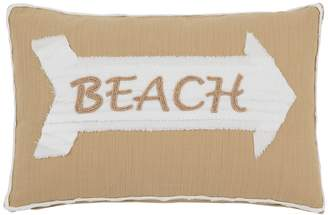 Shiraleah Beaufort Beach Pillow- 15x12 - Tan