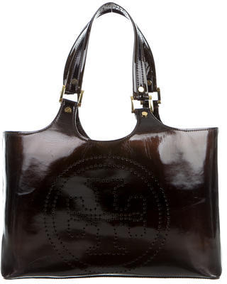 Tory BurchTory Burch Patent Leather Bombe Tote