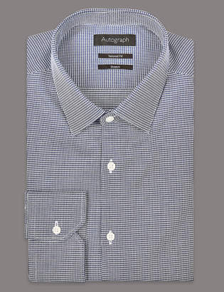 Autograph 2in Longer Cotton Rich Tailored Fit Shirt