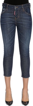 DSQUARED2 Cool Girl Cropped Cotton Denim Jeans