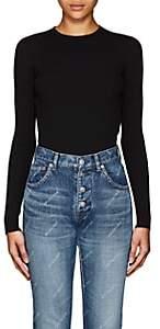 Balenciaga Women's Logo-Patch Fitted Crewneck Sweater - Black