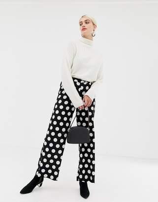 Selected Frosa polka dot wide leg pants