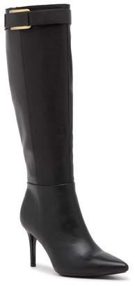 Calvin Klein Glydia Leather Stiletto Wide Calf Tall Boot