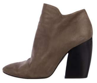 Pierre Hardy Suede Round-Toe Booties