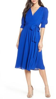 Chelsea28 Smock Sleeve Wrap Dress