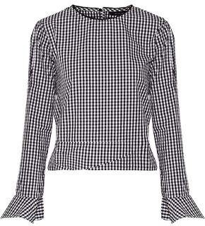 W118 By Walter Baker Jeanette Gingham Cotton Top