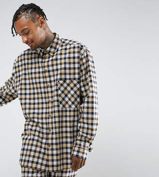 Reclaimed Vintage Inspired Oversized Shirt In Flannel Check