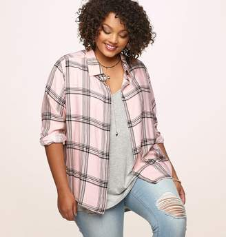Loralette Pink Plaid 3-Fer with Necklace