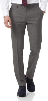 Charles Tyrwhitt Grey Slim Jaspe Business Suit Wool Pants Size W30 L38
